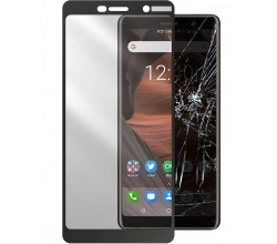 Nokia 7 Plus SP tempered glass capsule zwart Cellularline
