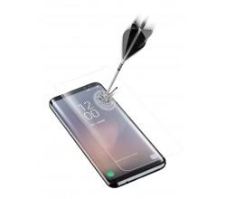 Samsung Galaxy S8 SP gehard glas gebogen transparant Cellularline
