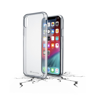 iPhone Xs Max housse clear duo transparent Cellularline