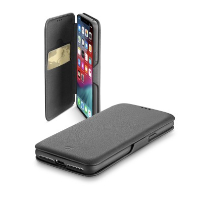 iPhone Xs Max housse book clutch noir Cellularline