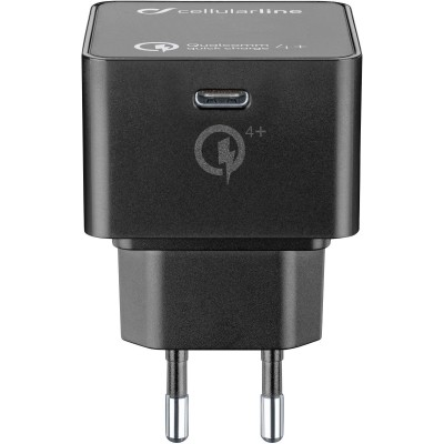 Reislader usb Qualcomm 4+ zwart Cellularline