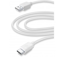 Data kabel home usb-a naar usb-c (3m) tablet wit Cellularline