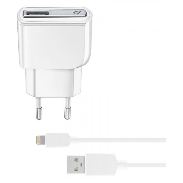 Cellularline Oplader Reislader kit 10W lightning Apple iPad wit