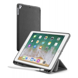 "iPad 9.7""/iPad Pro 9.7"" (2018) tasje slim stand pencil slot zwart  Cellularline"