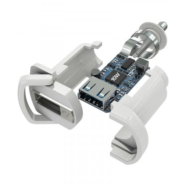 Cellularline Autolader kit 10W lightning Apple iPad wit