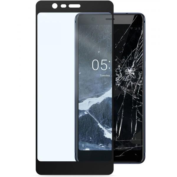 Cellularline Nokia 5.1 SP tempered glass capsule zwart