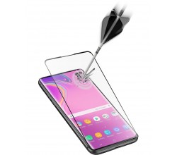 Samsung Galaxy S10e SP gehard glas capsule zwart Cellularline
