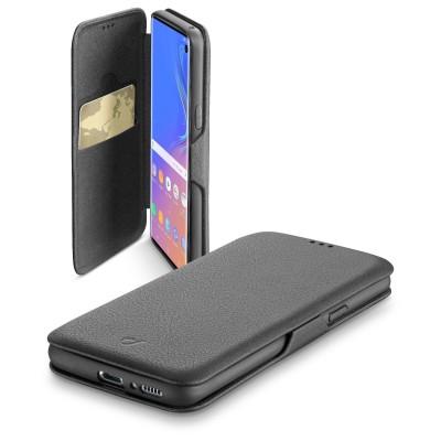 Samsung Galaxy S10 housse book clutch noir Cellularline