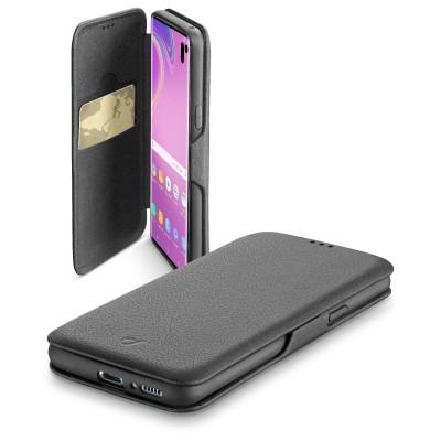 Samsung Galaxy S10e housse book clutch noir Cellularline