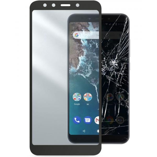 Cellularline Xiaomi Mi A2 SP gehard glas capsule zwart