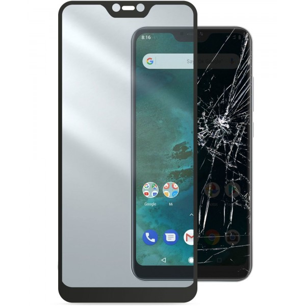 Cellularline Xiaomi Mi A2 Lite SP gehard glas capsule zwart