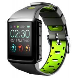 Smartwatch BT easysport hartslag gps zwart