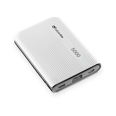 Chargeur portable powertank 5000mAh usb-c blanc Cellularline