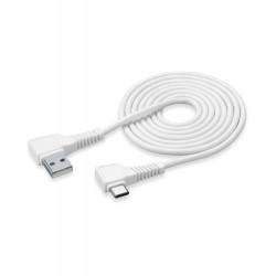 Usb kabel usb-c connector hoek 2m wit