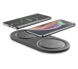 Draadloze lader dual pad adaptive zwart Cellularline