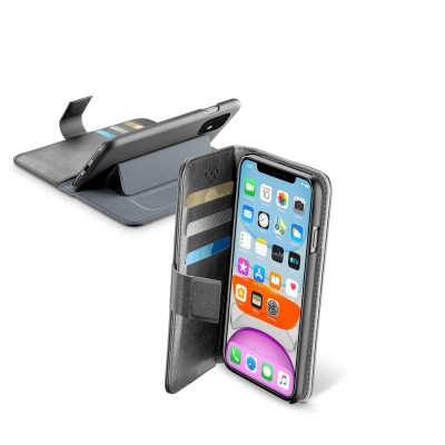 iPhone 11 hoesje book agenda zwart Cellularline