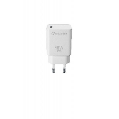 Reislader 18W PD usb-c iPhone en iPad wit Cellularline