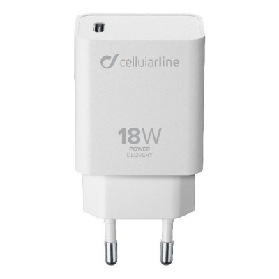 Reislader kit 18W PD usb-c iPad Pro wit Cellularline