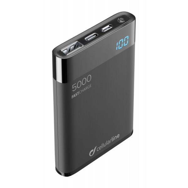Freepower Manta HD 5000mAh Zwart Cellularline