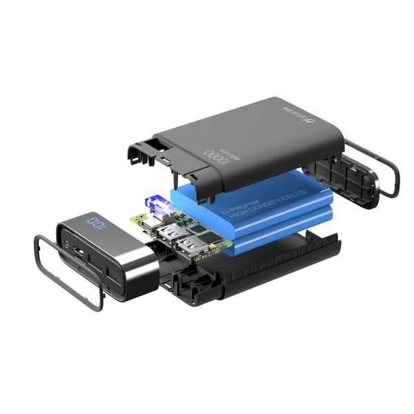 Cellularline Powerbank Freepower Manta HD 10000mAh Zwart