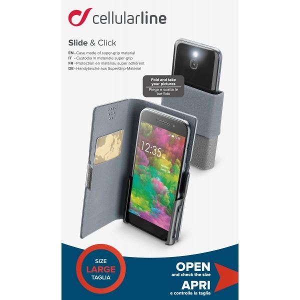 Book universeel slide & click Zwart Cellularline