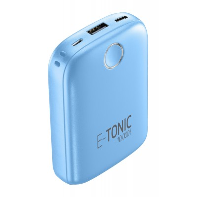 Draagbare lader e-tonic 10000mAh blauw Cellularline