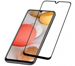 Samsung Galaxy A42 5G SP gehard glas capsule zwart Cellularline