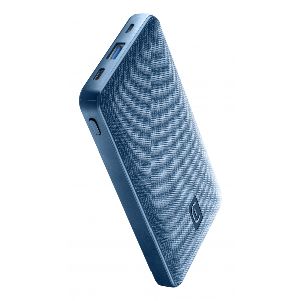 Draagbare lader shade 10000mAh PD blauw Cellularline