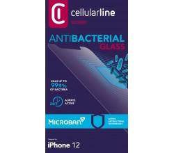 iPhone 12 Mini SP gehard glas antimicrobieel transparant Cellularline