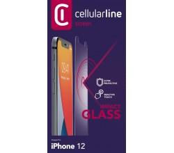 iPhone 12 Mini SP gehard glas transparant Cellularline