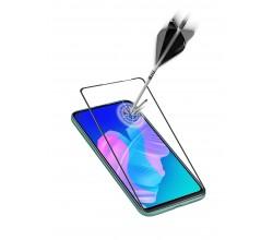 Huawei P40 Lite E/Y7P SP gehard glas capsule zwart Cellularline