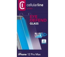 iPhone 12 Pro Max SP gehard glas anti-blauw licht transparant Cellularline