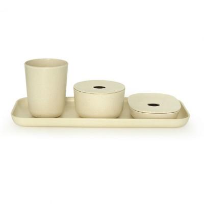 Bano Counter Set White  Biobu by Ekobo
