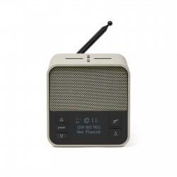 OSLO NEWS + DAB + FM-klokradio Lichtgrijs/Groen  Lexon