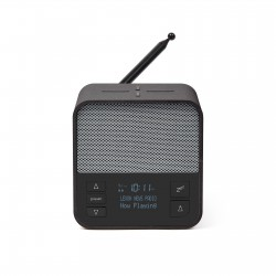 OSLO NEWS + DAB + FM-klokradio Donkergrijs/grijs  Lexon