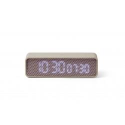 OSLO TIME  LED Wekker Lichtgrijs/roze