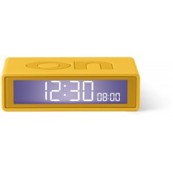 Flip+ Travel Clock Omkeerbare wekker Geel  Lexon
