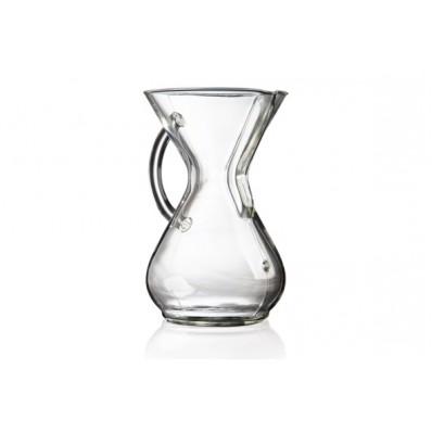 CHEMEX GLASS HANDLE COFFEE MAKER 6CUP
