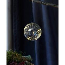 Kerstverlichting Wave Ball, diam 8, Clear