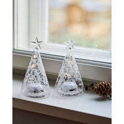 Kerstboom mini cozy tree 2st 9H White/Clear