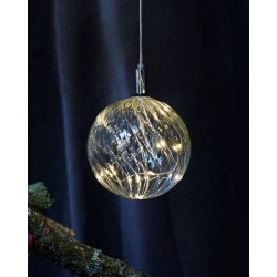 Kerstverlichting Wave Ball, diam 13, Clear