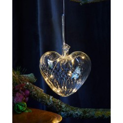 Kerstverlichting Wave Heart, diam 8, Clear