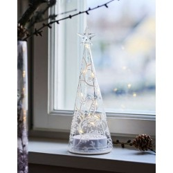 Kerstboom mini cozy tree 22H White/Clear