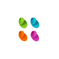 Greep uit silicone blauw, groen, oranje of paars