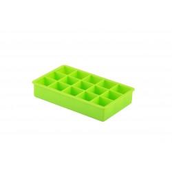 Ijsblokjesvorm uit silicone kubus groen