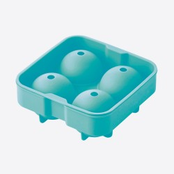 ijsballenvorm uit silicone voor 4 ijsballen aquablauw ø 6cm