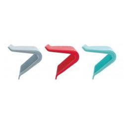 Pannengreep uit silicone rood, grijs of aquablauw