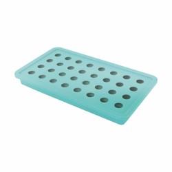 Ijsblokjesvorm voor 32 ijsparels aquablauw