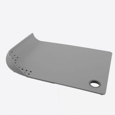 Snijplank met vergiet grijs