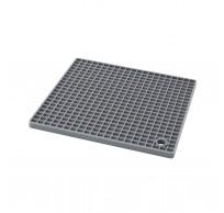 vierkante panonderzetter/pannenlap uit silicone grijs
